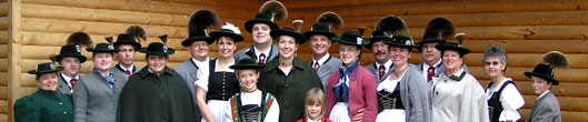 Group photograph of S.G. Edelweiss St Paul join our German folk music and dance group
